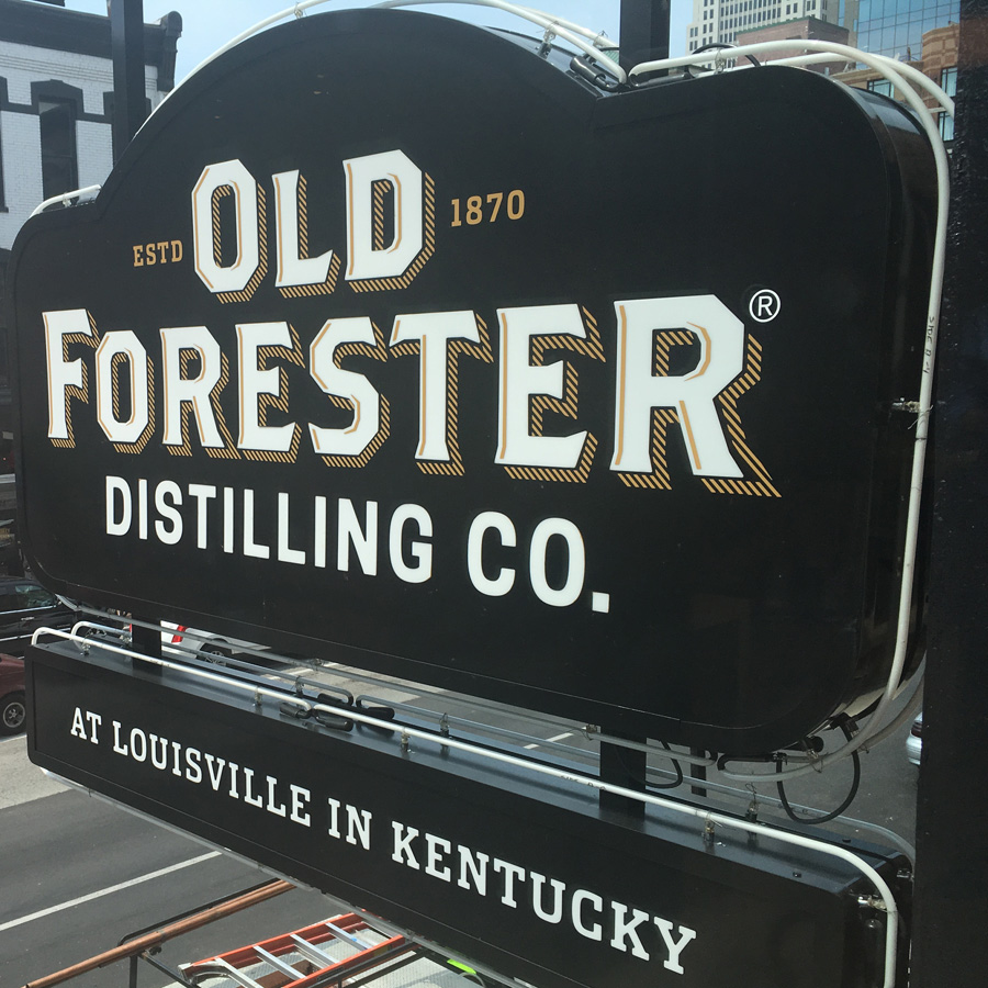 Old Forester Distilling Co. Sign on the Kentucky Bourbon Trail®